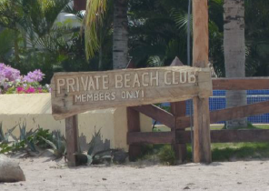 Tourism development that restricts public beach entrance